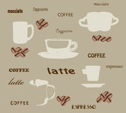 Coffee wallpaper Royalty Free Stock Images