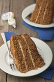 Coffee and walnut cake Stock Photography