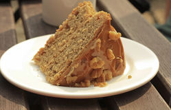 Coffee and Walnut Cake Stock Image