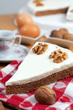 Coffee and Walnuts Cake Royalty Free Stock Photo