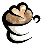 Coffee watercolor illustration Stock Photo