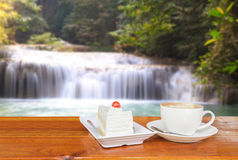 Coffee and Waterfall Stock Photos