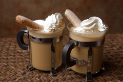 Coffee and whipped cream Royalty Free Stock Photo