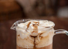 Coffee with whipped cream Stock Photography