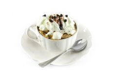 Coffee with whipped cream and chocolate Royalty Free Stock Image
