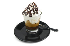 Coffee whipped cream and chocolate Royalty Free Stock Photo