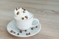 Coffee and whipped cream Stock Image