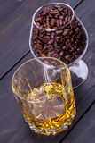 Coffee and whisky Royalty Free Stock Images