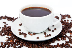 Coffee on white Royalty Free Stock Photo