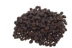 Coffee on white. Coffee Beans on a white background Royalty Free Stock Photo