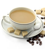Coffee on white background Stock Images