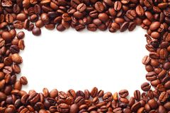 Coffee on white background. With copy space Stock Photos