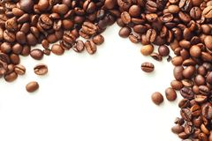 Coffee on white background. With copy space Royalty Free Stock Photography
