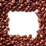 Coffee on white background. With copy space Royalty Free Stock Photo