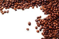 Coffee on white background. With copy space Stock Photo
