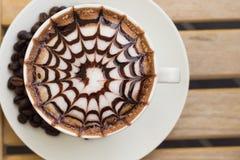 Coffee in White Ceramic Mug Stock Image