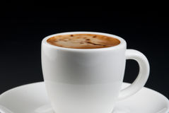Coffee in white cup Stock Images