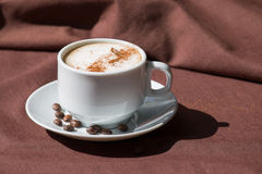 Coffee in a white cup Royalty Free Stock Photo