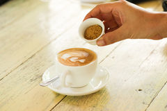 Coffee in white cup Royalty Free Stock Images
