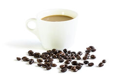 Coffee white cup Royalty Free Stock Images