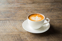 Coffee with white cup on the wood background. Coffee with white cup on the wood background Stock Photo