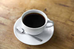 Coffee in white cup Royalty Free Stock Image