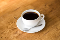 Coffee in white cup Stock Photo