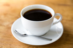 Coffee in white cup Royalty Free Stock Photo