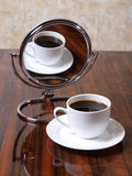Coffee white mirror Royalty Free Stock Photos