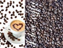Coffee in a white mug stock image