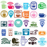 Coffee wifi Royalty Free Stock Images