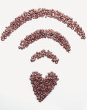 Coffee wifi symbol Royalty Free Stock Photos