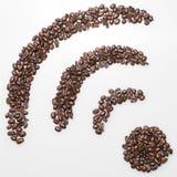Coffee wifi symbol Stock Photos