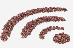 Coffee wifi symbol Stock Image