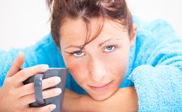 Coffee woman Royalty Free Stock Photo