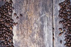 Coffee on Wood Background Stock Photography