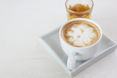 Coffee on wood background Royalty Free Stock Photos