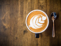 Coffee. On wood background on sunny day royalty free stock photography