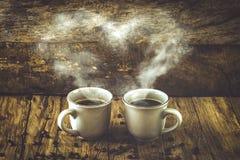 Coffee on wood Stock Photography