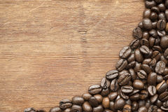 Coffee on wood Royalty Free Stock Image