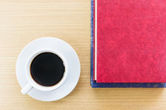 Coffee on a wood table Royalty Free Stock Photography