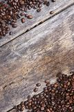 Coffee Wooden Background Stock Photography