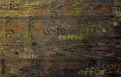 Coffee on a wooden board, Wood Texture Background royalty free stock photography