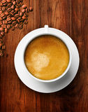 Coffee on Wooden Table Royalty Free Stock Images