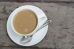 Coffee. On the wooden table Stock Image