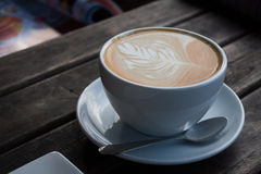 Coffee. On the wooden table royalty free stock image
