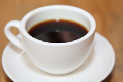 Coffee on the wooden table Stock Photo