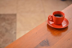 Coffee on a wooden table Stock Photo