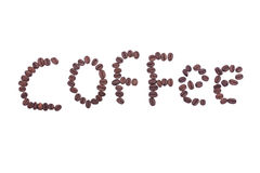 Coffee word Stock Photos