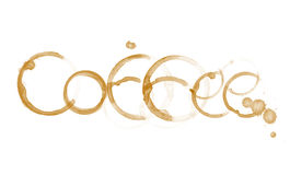 Coffee word Royalty Free Stock Image